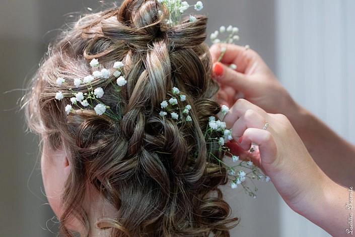 Preparatifs coiffure mariage