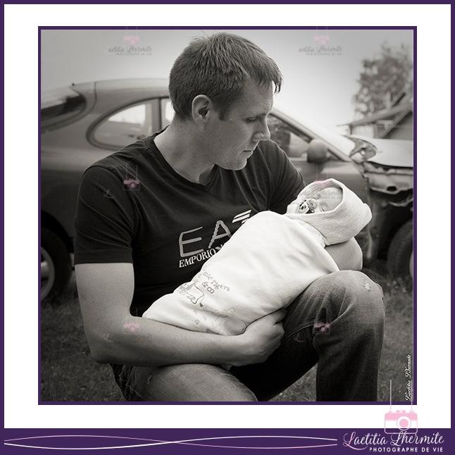 Photo Papa et Bebe dehors